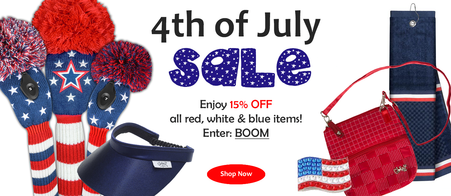 15 Off Red White Blue Golf Accessories Apparel Pink